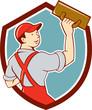 Plasterer Masonry Trowel Shield Cartoon
