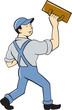 Plasterer Masonry Trowel Cartoon