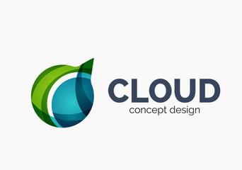 Modern cloud logo