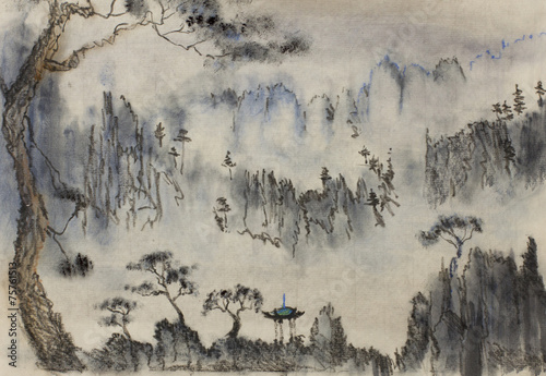 Leinwandbild Motiv Chinese mountain