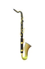 Bass Clarinet on white Background