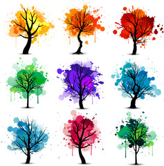 Colorful tree background