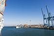 landscape of civitavecchia harbour italy