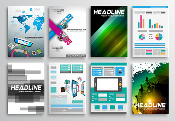 Set of Flyer Design, Infographics. Brochure Designs