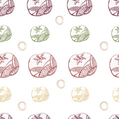 vector seamless Red tomato  pattern
