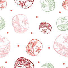 vector seamless Red tomato  pattern 2