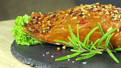Salmon fillet (seamless loopable)