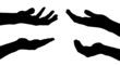 Vector silhouettes of hands. - 75764113