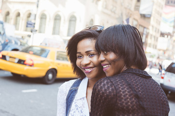 Two Beautiful Black Woman in New York