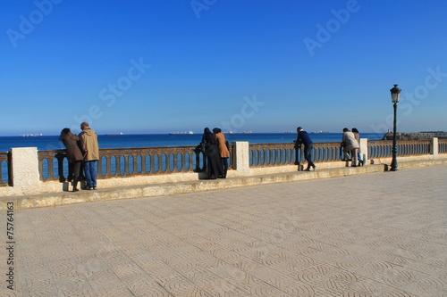 Tuinposter Algerije Front de mer de Bab El Oued, Alger