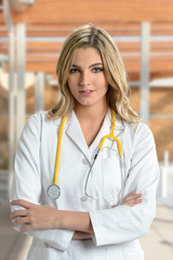 Portrait of Young Nurse or Doctor