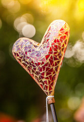 Valentine's Day: heart of red mosaic
