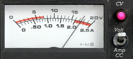 Rectangular power supply display, retro style