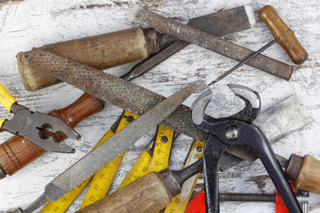 Set of old tools