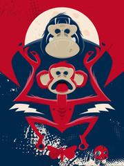 affe vintage gorilla schimpanse