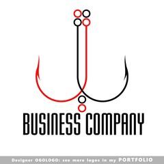 logo, icons, illustrations, fishing, hook