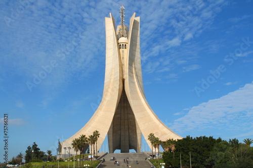 Foto Spatwand Algerije Mémorial du Martyr à Alger, Algérie