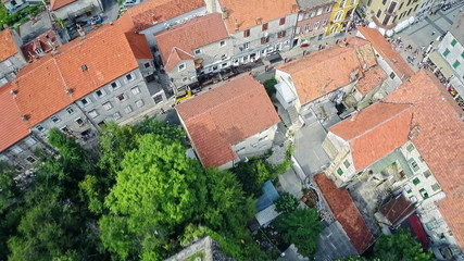 Alka procession in Sinj, aerial shot