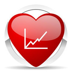 chart valentine icon stock sign