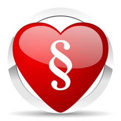 paragraph valentine icon law sign