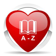 dictionary valentine icon