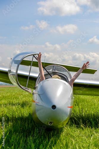Leinwanddruck Bild Fun in glider