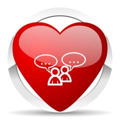 forum valentine icon chat symbol bubble sign