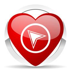navigation valentine icon