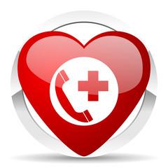 emergency call valentine icon
