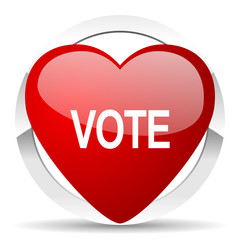 vote valentine icon