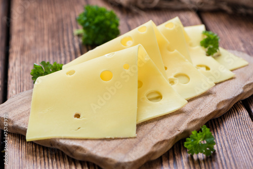 Deurstickers Zuivelproducten Sliced Cheese