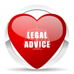 legal advice valentine icon law sign