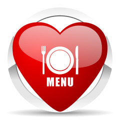 menu valentine icon restaurant sign
