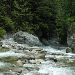 Running river water