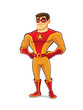 Handsome Superhero Proud