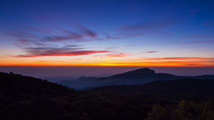 Time Lapse Sunrise On Valley Of Thailand
