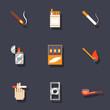 Smoking icons set - 75768769
