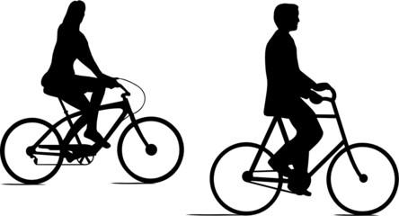 COUPLE JD CYCLISTES