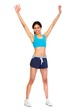 canvas print picture - Young fitness woman.