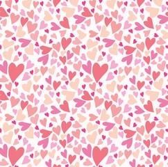 Seamless pattern lot hearts.