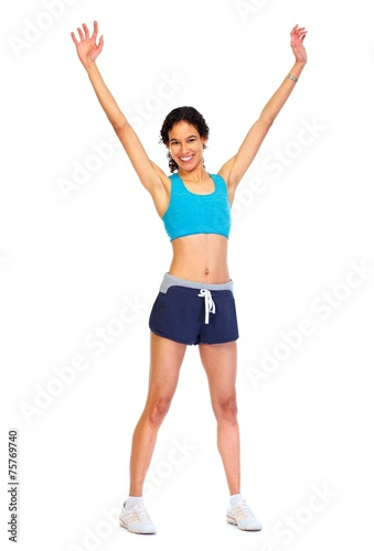 canvas print picture Young fitness woman.