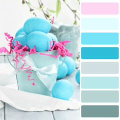 Blue Easter Eggs Palette