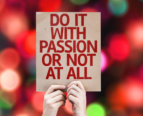 Do It With Passion Or Not At All card with colorful background