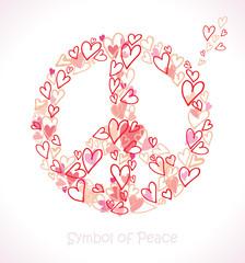 Symbol of Peace. Hearts.