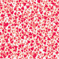 Seamless pattern carnation hearts.