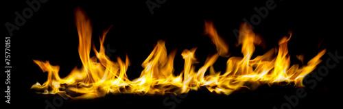 In de dag Vuur / Vlam Wide angel view of fire