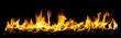 Leinwanddruck Bild - Wide angel view of fire