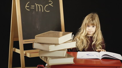 Little girl school difficult problem