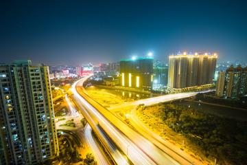 city highway at night