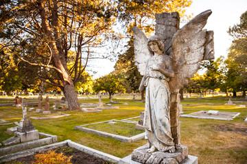 angelic gravestone at Ross Bay Cemetery, Victoria, BC, Canada